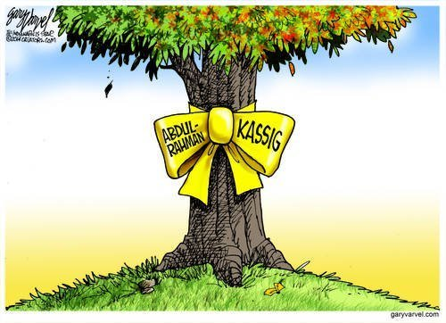 A Yellow Ribbon Is Tied Around The Old Oak Tree For Abdul-Rahman Kassig