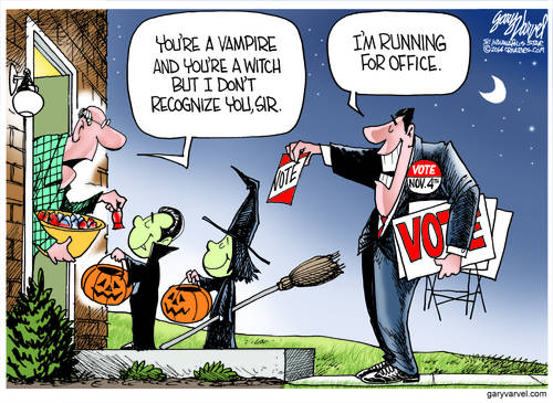Politicians Compete With Kids At Halloween, More Of A Trick Than A Treat
