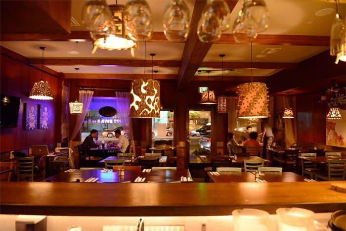 inside santinos restaurant