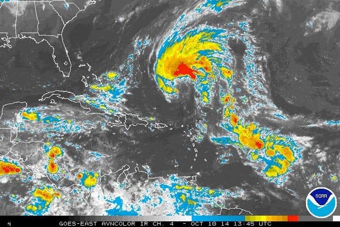 tropical system caribbean