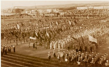 1st Maccabiah oppening ceremony
