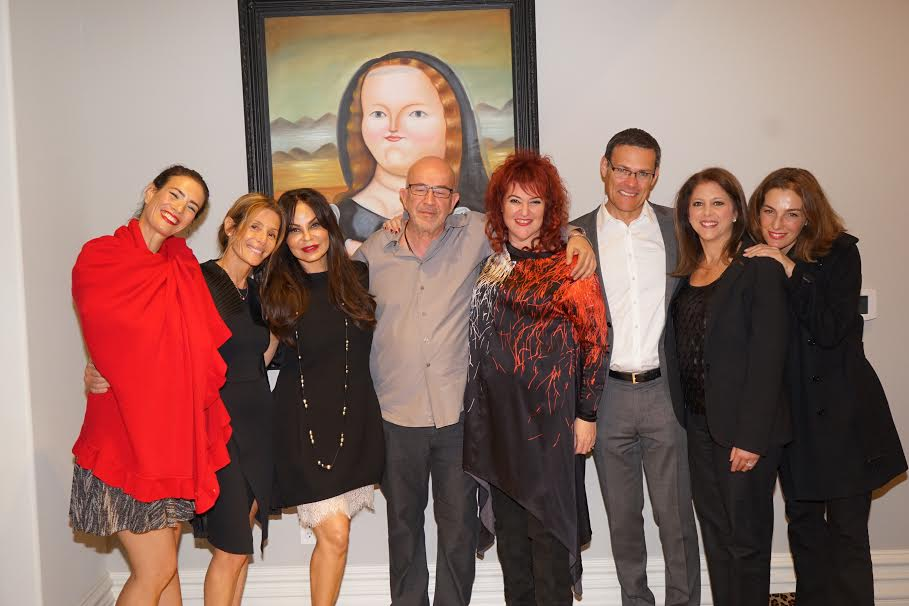 From L Gisel Armoni Sary Yogev Yosi and Alisa Simsoly Mariuma Ben Yosef Consul General of Israel David Siegel Myra Siegel Actress Ayalet Zorer Photo Orly Halevy