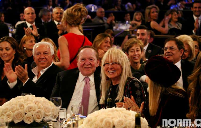 Miriam and Sheldon Adelson Photo: Noam Chen