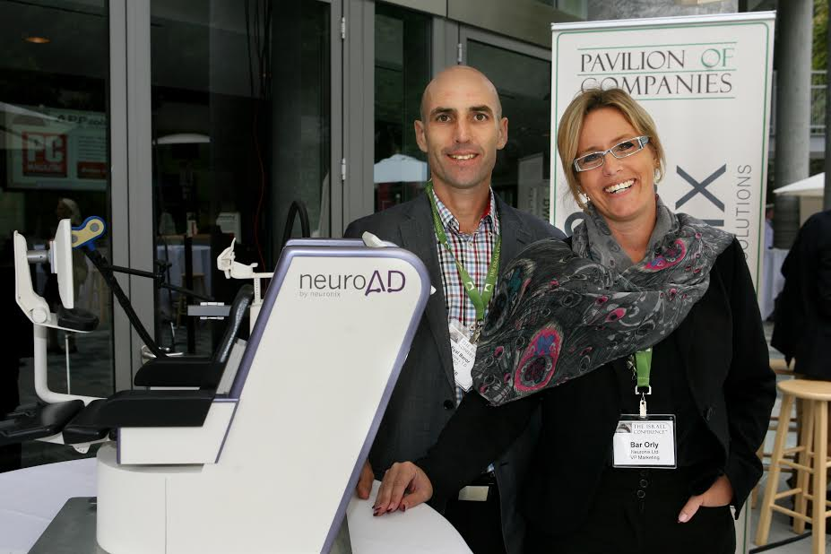 R Orly Bar VP Marketing and Eyal Baror CEO Beuronix Integrated Neurological Solutions Photo Orly Halevy