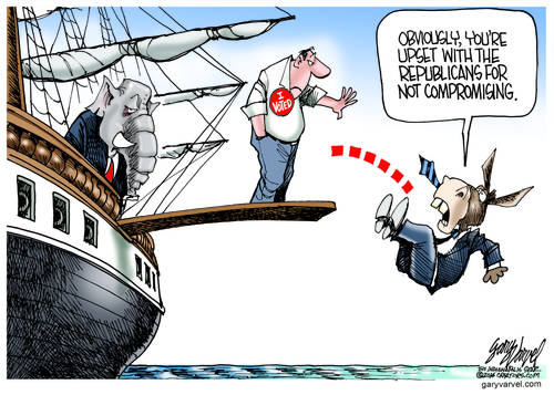 US Voters Make Donkey Walk The Plank, But Stupid Points The Finger Elsewhere