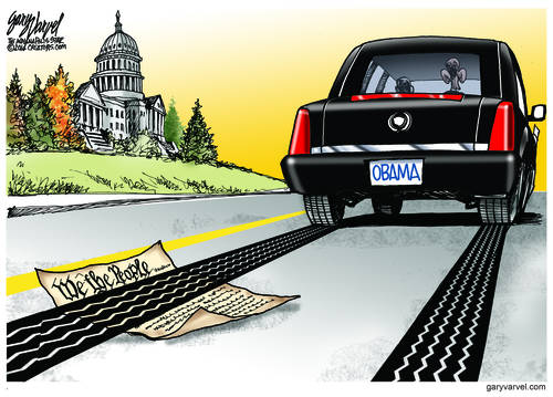 Obama Limo Drives Right Over The Constitution, But Nobody Cares