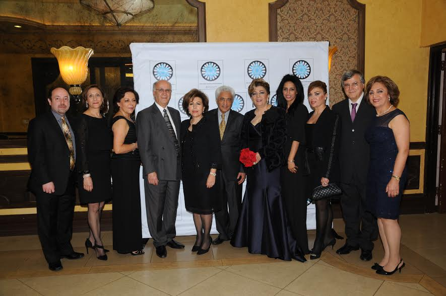 The Committee From L Farzin Javaherian Elahe Broukhim Violet Sassooni Houshang Moghimi Susan Azizzadeh the President Saeed Sassooni Shahla Javdan Elham Yaghoubian Chairman Mike Nazarian and wife Mahnaz Nazarian