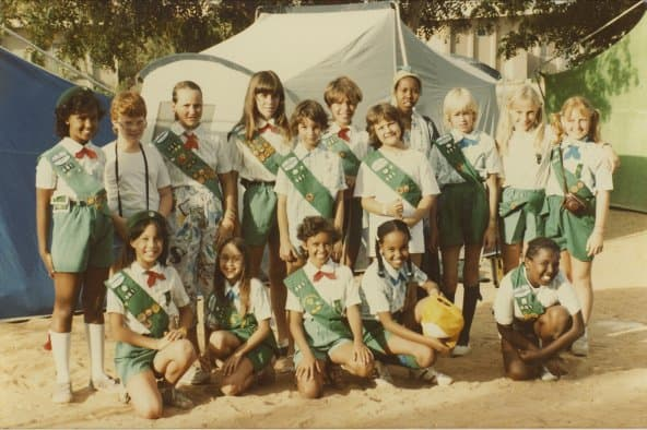 Old photo Somalian and Europian girls together