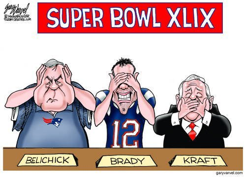 The Superbowl Has Its Own Set Of Three Not So Wise Monkeys
