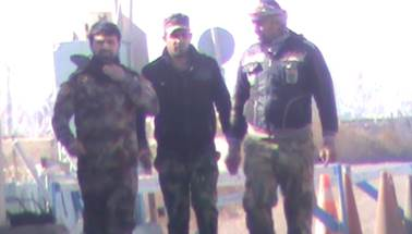 The three Iranian militiamen in Camp Liberty