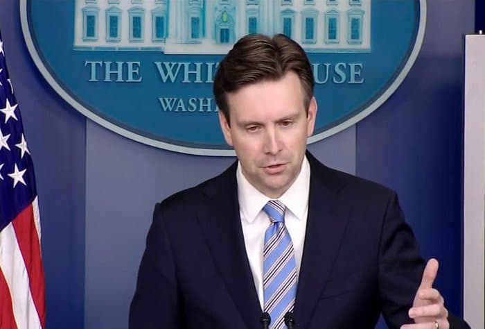 josh earnest responds to the security question