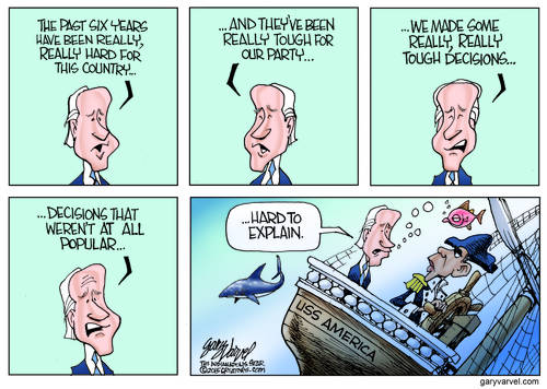 VP Joe Biden Admits Governing Is Hard, When The Ship Of State Is Underwater