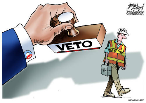The Presidential Veto Stamp Lands On The Keystone Pipeline And Its Jobs