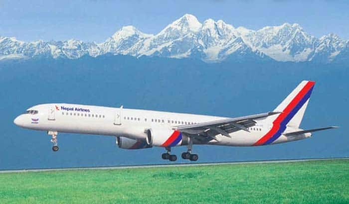 nepal airlines takeoff