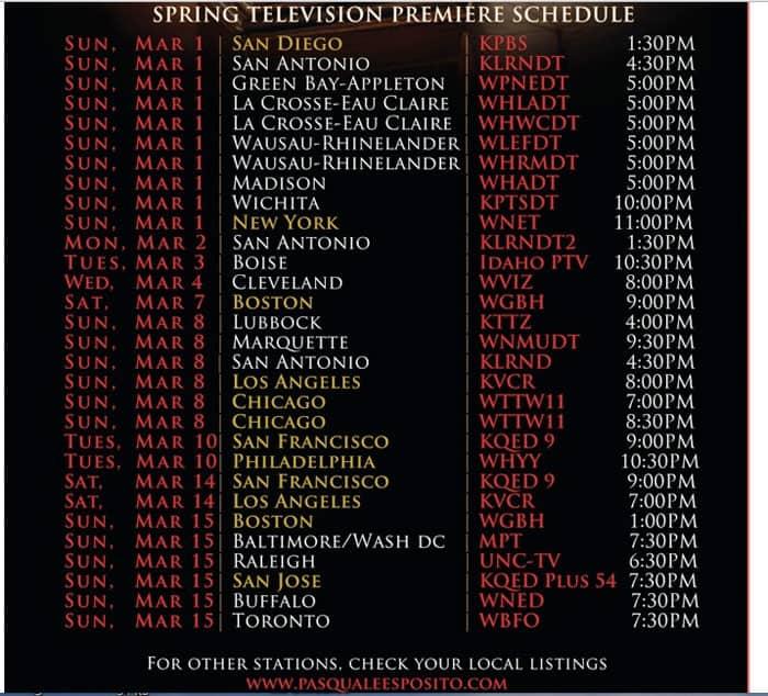 Pasquale Esposito schedule