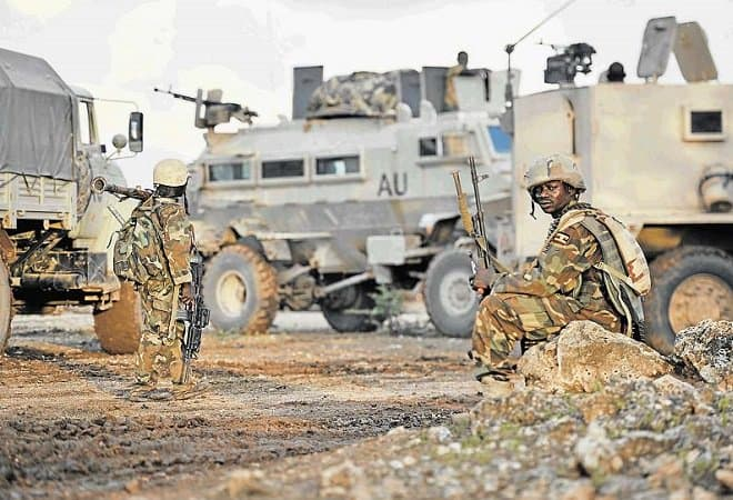 Amisom troops in Somalia picture