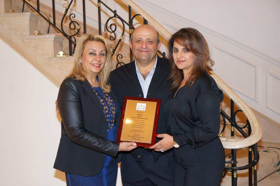 L Katherine Kahen Hosts Farhad and Fariba Nourafshan Photo Orly Halevy