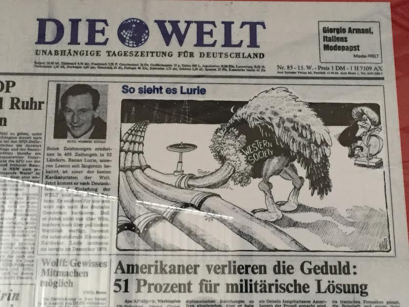 Raanan Lurie Ostrich Cartoon