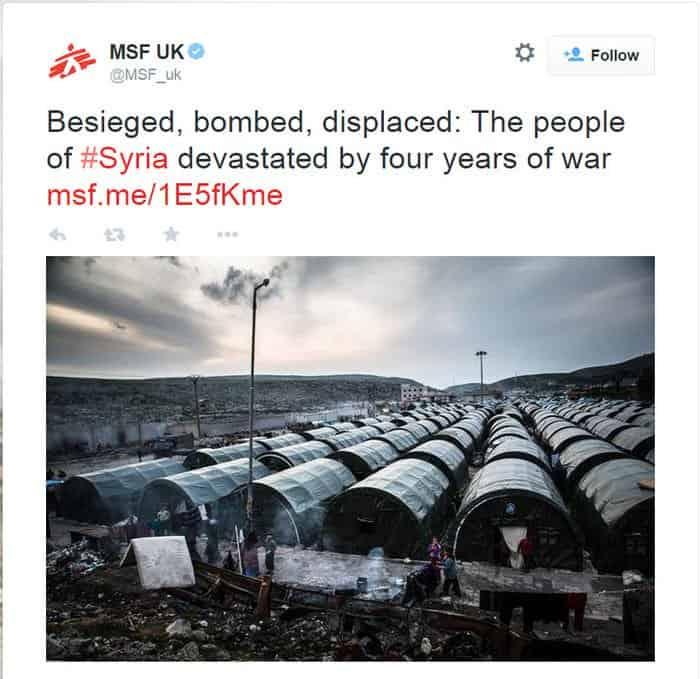Syria Displaced MSF Tweet01