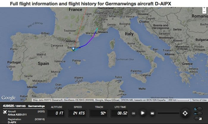 germanwings flightpath
