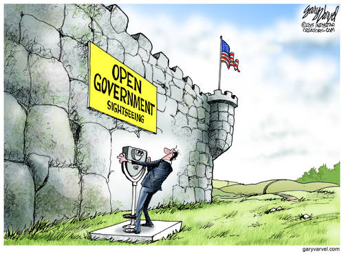 US Open Government Looks More Like A Massive Fortress Every Day