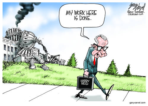 Having Done His Work, Harry Reid Leaves The Scene Of The Crime