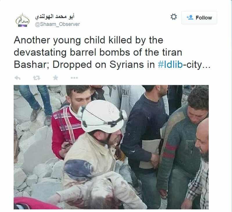AssadDropsMoreBarrelBomb