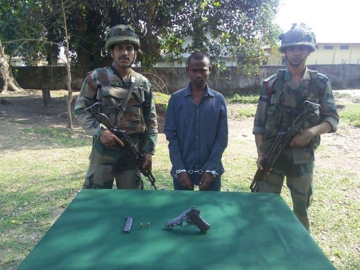 Lakhiram Kisku under guard