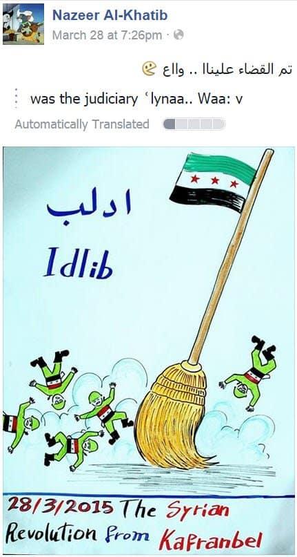 Syria IdlibSweepOutTheRegimeTweet032815.jpg