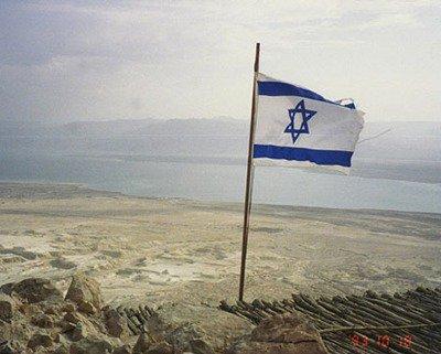 The flag on the mast