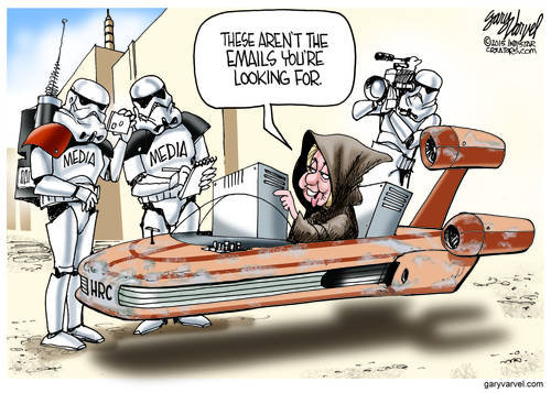 Hillary Skywalker Tricks The Media Stormtroopers Into Believing Anything
