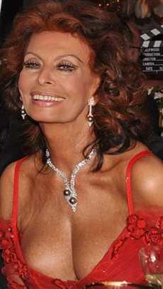 Sophia Loren in London