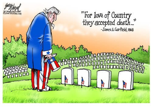 For Love Of Country, They Accepted Death. Freedom Is Not Free