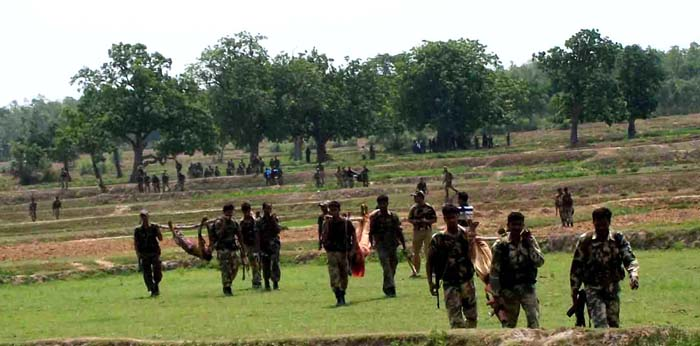 indian security recovers dead female maoists 2010