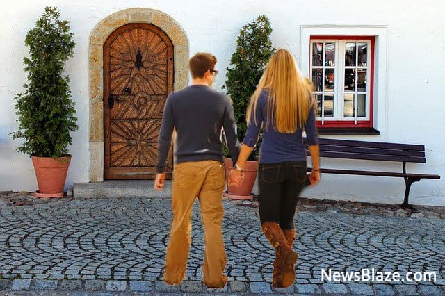 walk her to the door