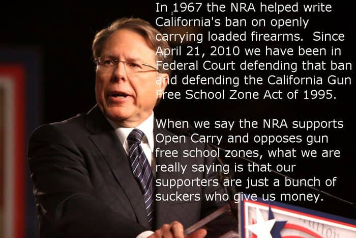 NRA Suckers - start another fake open carry lawsuit.