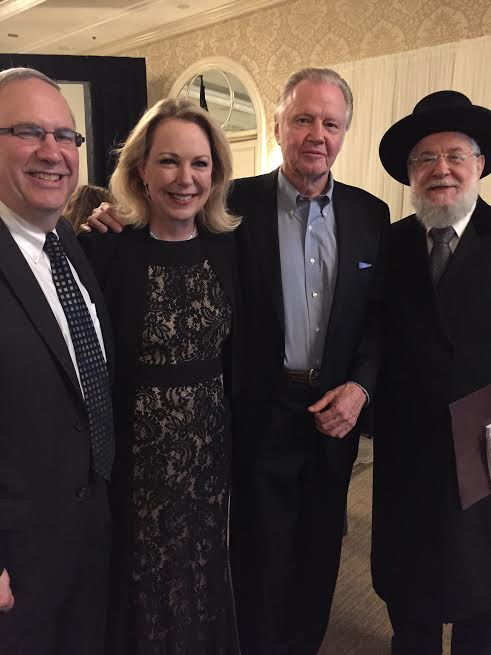 Ron B. Meier the executive director of the America Society for Yad Vashem Mary Eisenhower Jon Vought Rabbi Lau