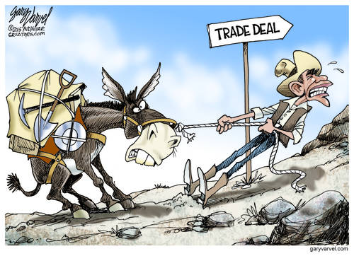 The Prospector Has A Problem Getting His Mule To Cooperate On Trade