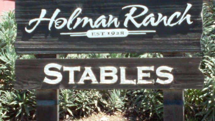 Holman Ranch sign