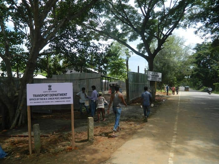 Assam Government Transport Department at Khatkati