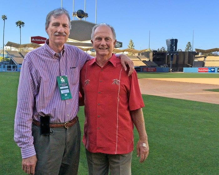 John Paciorek and Steven K Wagner at Dodger Stadium