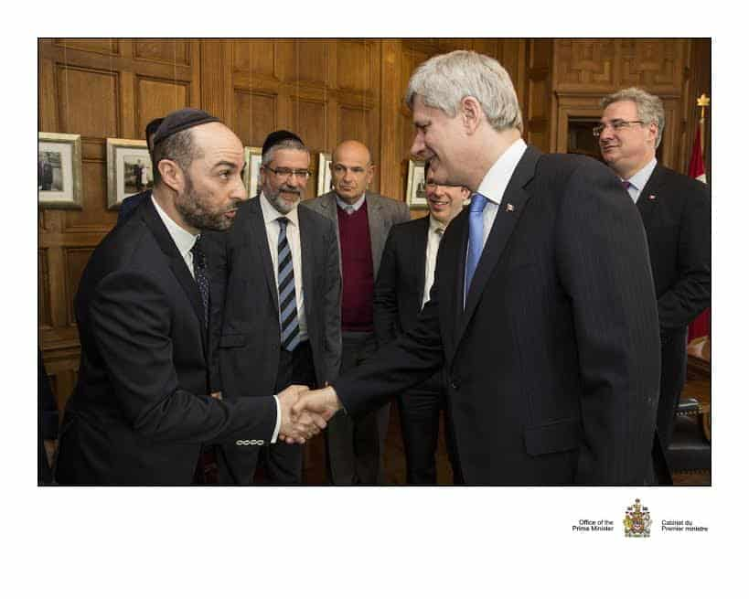 Steve Maman with Canadas Prime Minister Stephen Harper