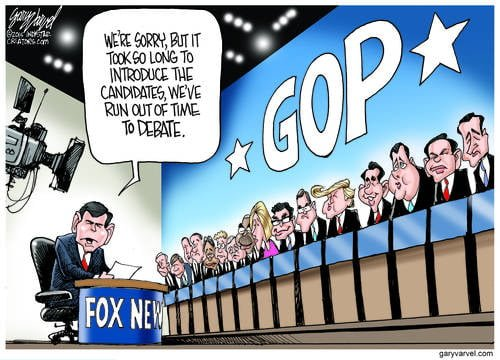 Fox Runs Out Of Time For The GOP Debate After Introducing The Huge Field