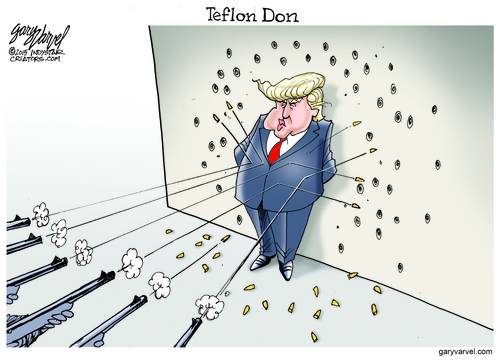 The Teflon Don Repels All Comers, All Bullets, All Insults, All GOPers