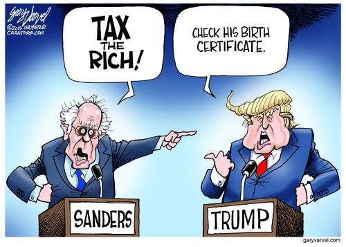 Bernie Sanders And Donald Trump Have Standard Answers For Each Other