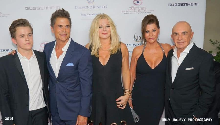 rom L Rob Lowe family and Linell and Robert Shapiro Photo Orly Halevy