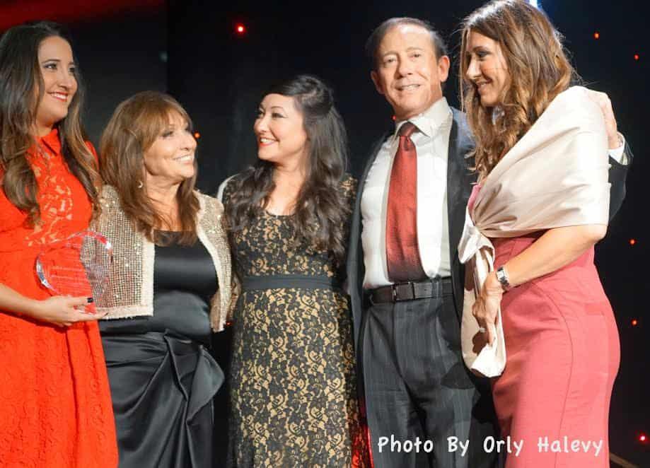 2nd L Gila Milstein 2nd R Adam Milstein with their three daughter.