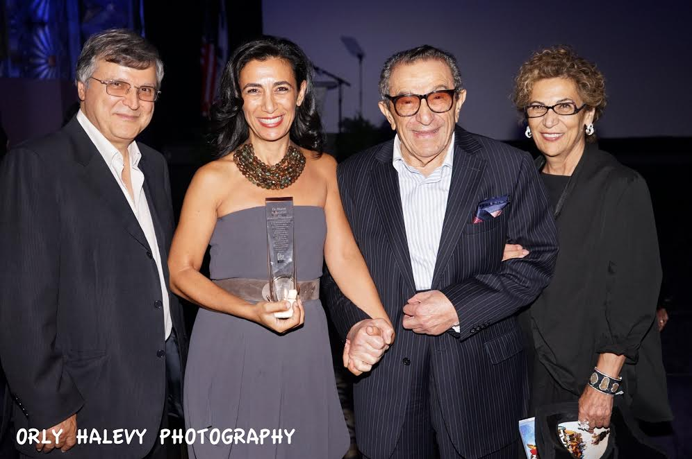 L Mike Nazarian Chairman IAJF Dr. Sharon Nazarian president of Nazarian Family Foundation 2015 IFF Humanitarian Award parents Younes and Soraya Nazarian