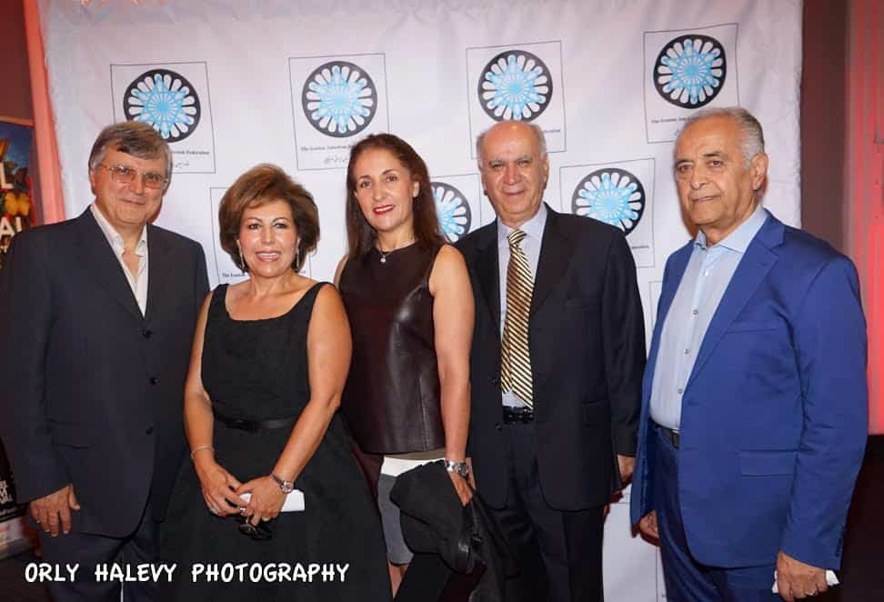 L Mike Nazarian Chairman IAJF Mrs Susan Azizzadeh President IAJF members of the American Iranian Jewish Federation