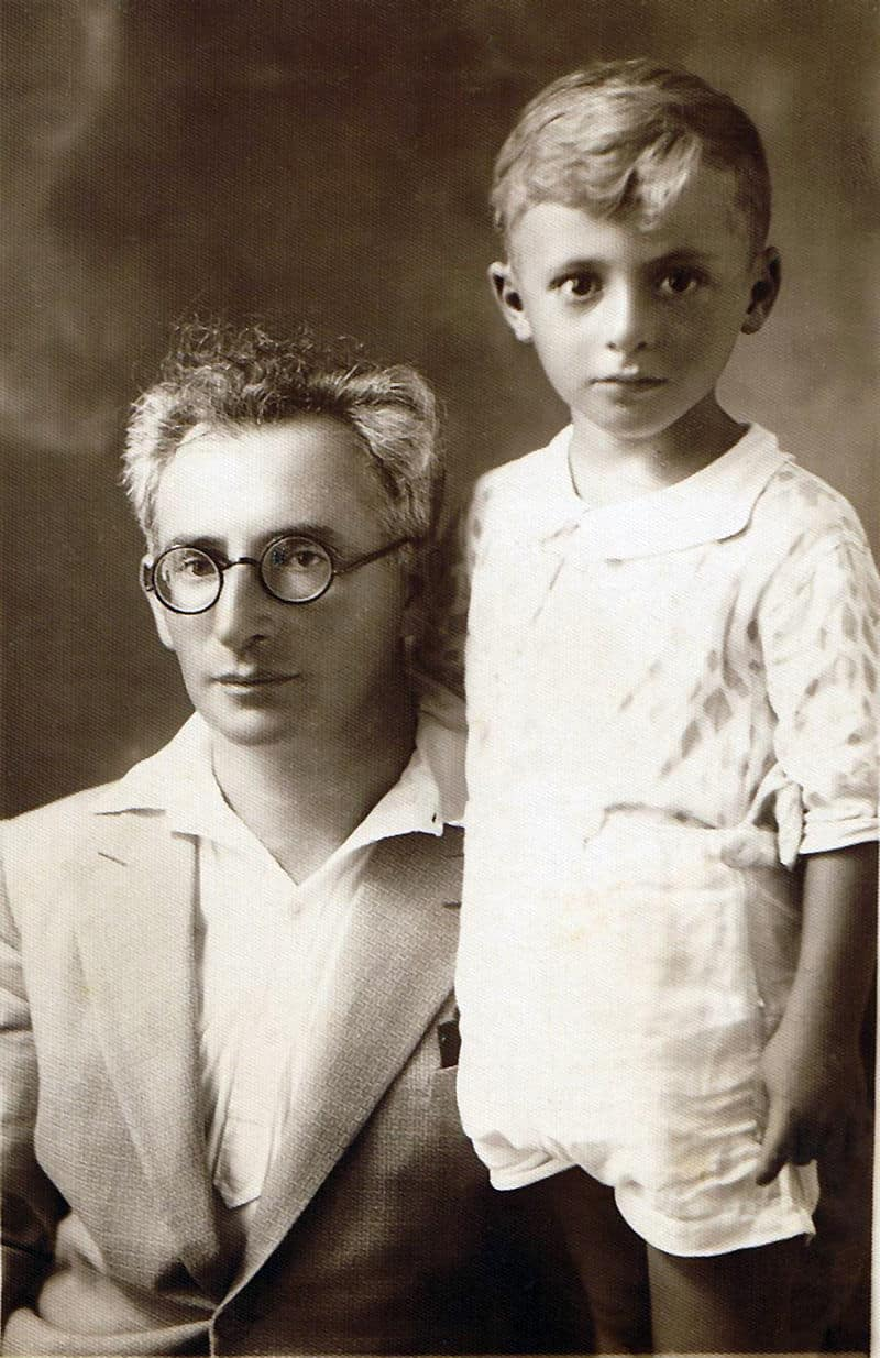 Levin Kipnis and first Son iin the early 1930.